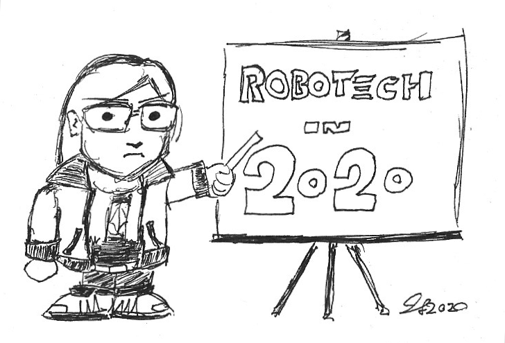 Tiny Captain JLS begins their seminar on Robotech in 2020.